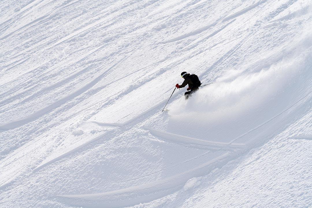 ニセコモイワスキー場のスキーヤー