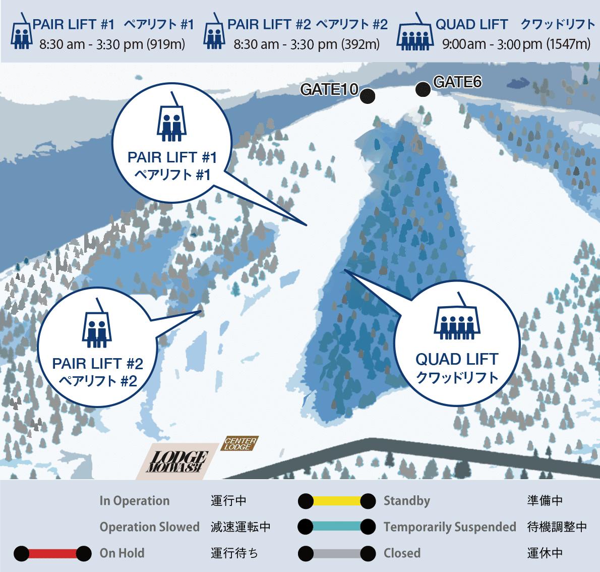 Niseko moiwa ski resort map